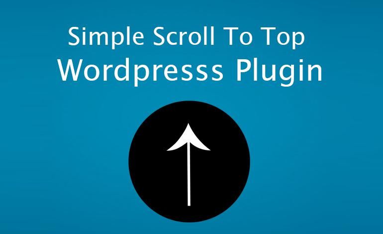 Simple Scroll To Top WordPresss Plugin   Vijayakumar Selvaraj
