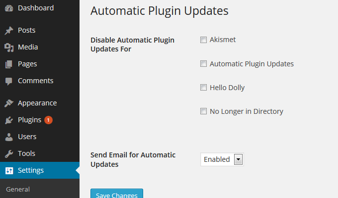 Automatic Plugin Updates in WordPress to stay up-to-date for security